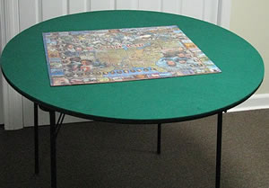 Convert Your Small Folding Table Into A Jigsaw Puzzle Worksatation!