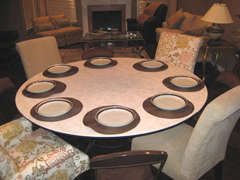 Round Table For Four Extended To Rectangle Fit Up 14 People